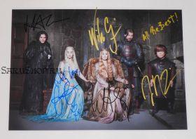 Автографы: Харингтон, Кларк, Хиди, Костер-Вальдау, Динклэйдж. Игра престолов