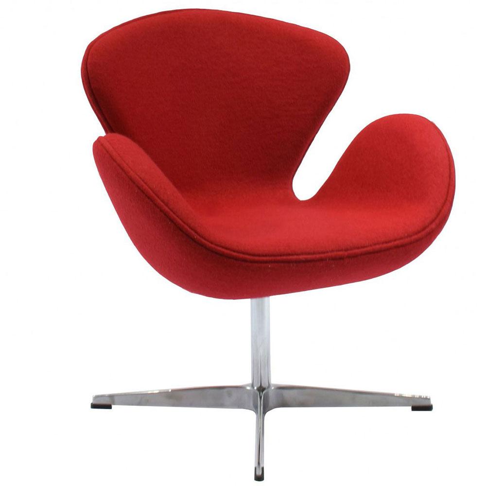 Кресло SWAN CHAIR красный кашемир