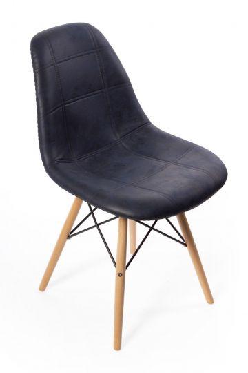 Стул Eames DSW leather черный