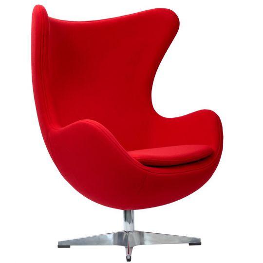 Кресло EGG CHAIR красный кашемир