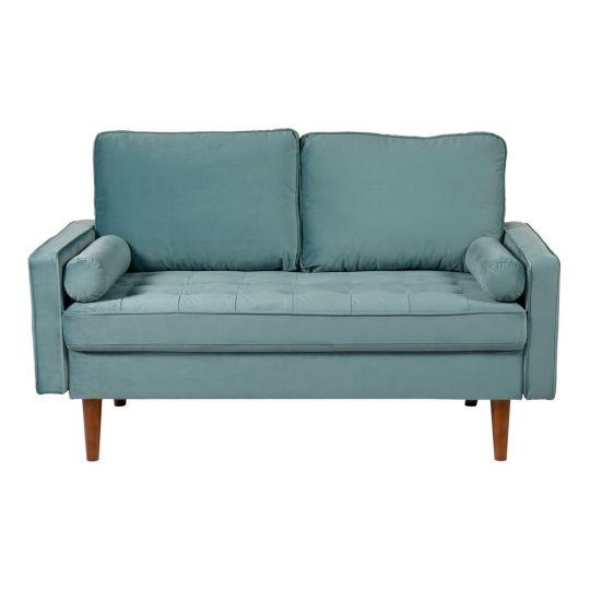 Диван Scott двухместный серо-голубой