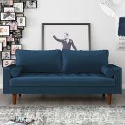 Диван Scott трехместный синий