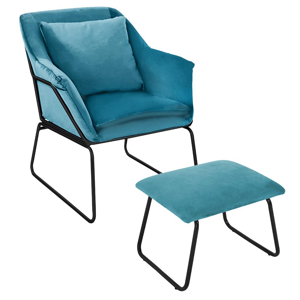 Комплект кресло ALEX и оттоманка ALEX бирюзовый