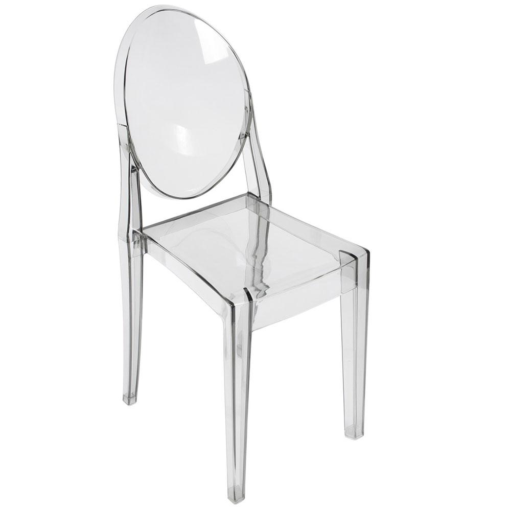 Стул Victoria Ghost прозрачный серый