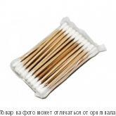 Ватные палочки (деревянные) 500шт в пакете, шт