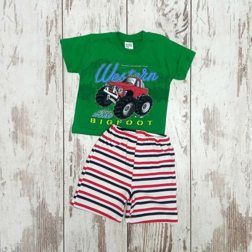 Костюм биг фут зеленый: футболка, шорты