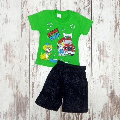 Костюм bone rain зеленый: футболка, шорты