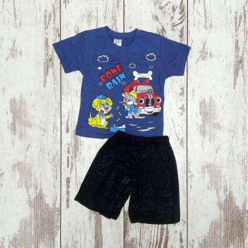 Костюм bone rain синий: футболка, шорты