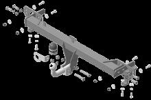 Фаркоп (тсу) Motodor, крюк на болтах, тяга 1.5т