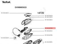 Основание корпуса утюга со шлангом (шнуром) парогенератора TEFAL моделей GV95..... Артикул CS-00145788.