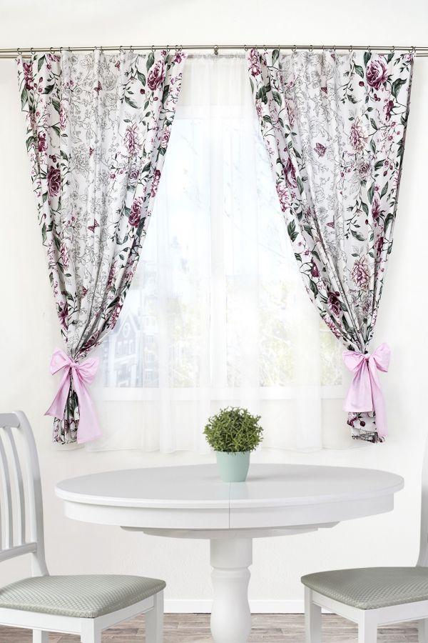 Комплект штор 10752 [розовый]