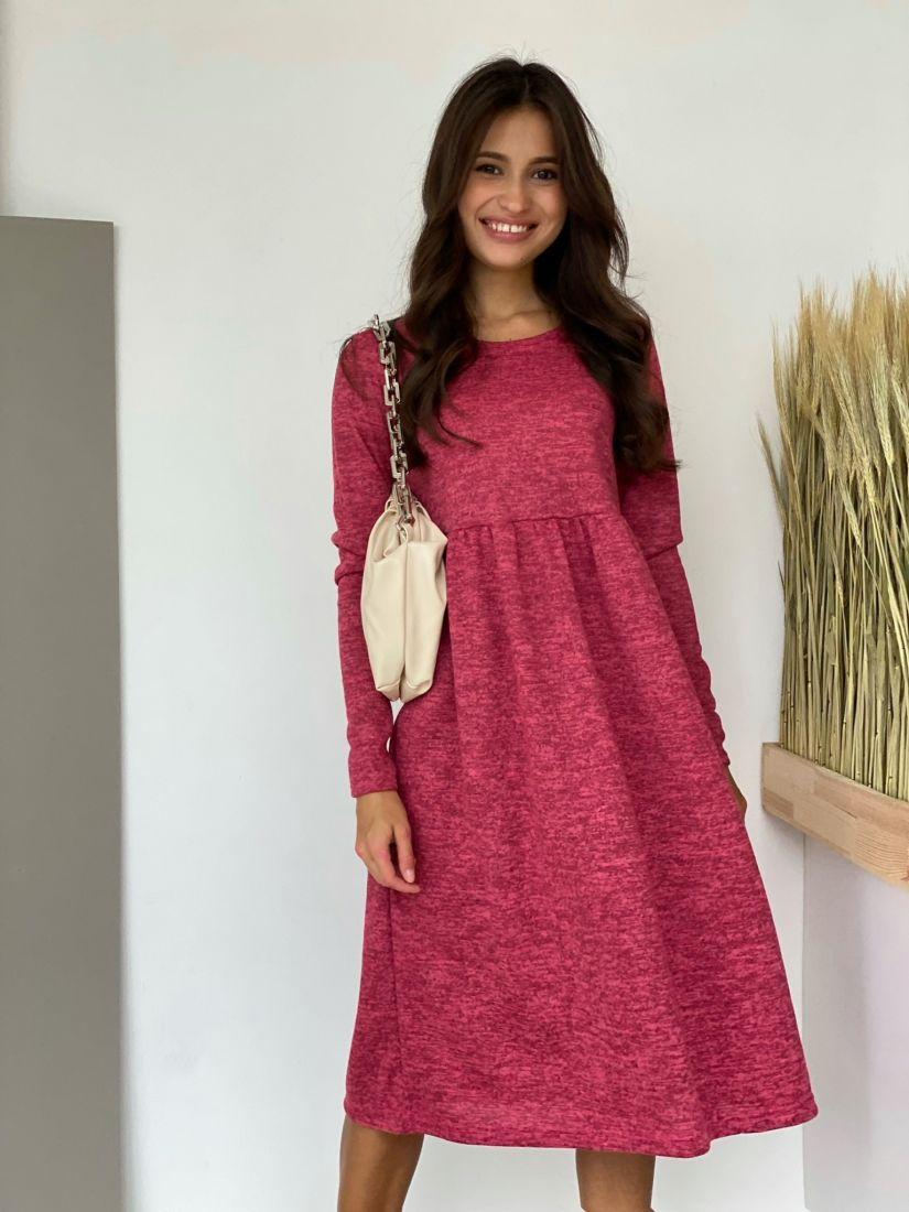 3525 Платье розовое в стиле babydoll