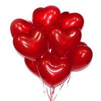 """Фонтан из 9 воздушных шаров """"Сердце"""""""