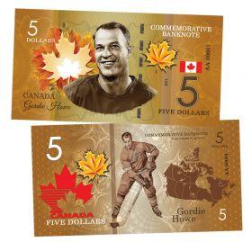 5 dollars Canada - Gordie Howe (Горди Хоу). Легенды хоккея (Canadian Hockey Legends). UNC
