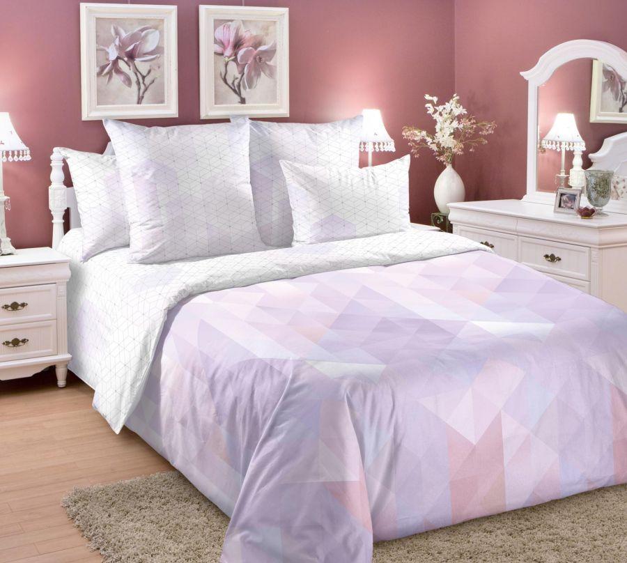«Радужный блик 3» постельное белье Сатин 2-х спальный с евро