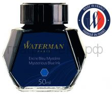 Чернила Waterman т-синие Bottle Blue/Dark 51064 (S0110790)