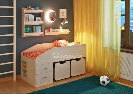 Детская кровать Легенда 8 с полками