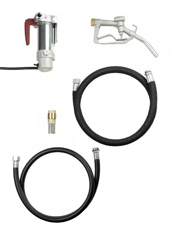 MOBIMAxx комплект для дизтоплива, 60л/мин, 12В, клеммы, 4 м шланг 23009