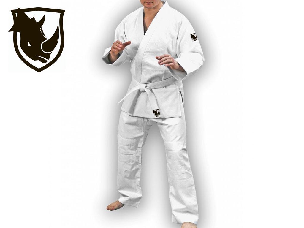 Кимоно дзюдо RHINO. Цвет белый. Размер 28-30. Рост 115., артикул 06779