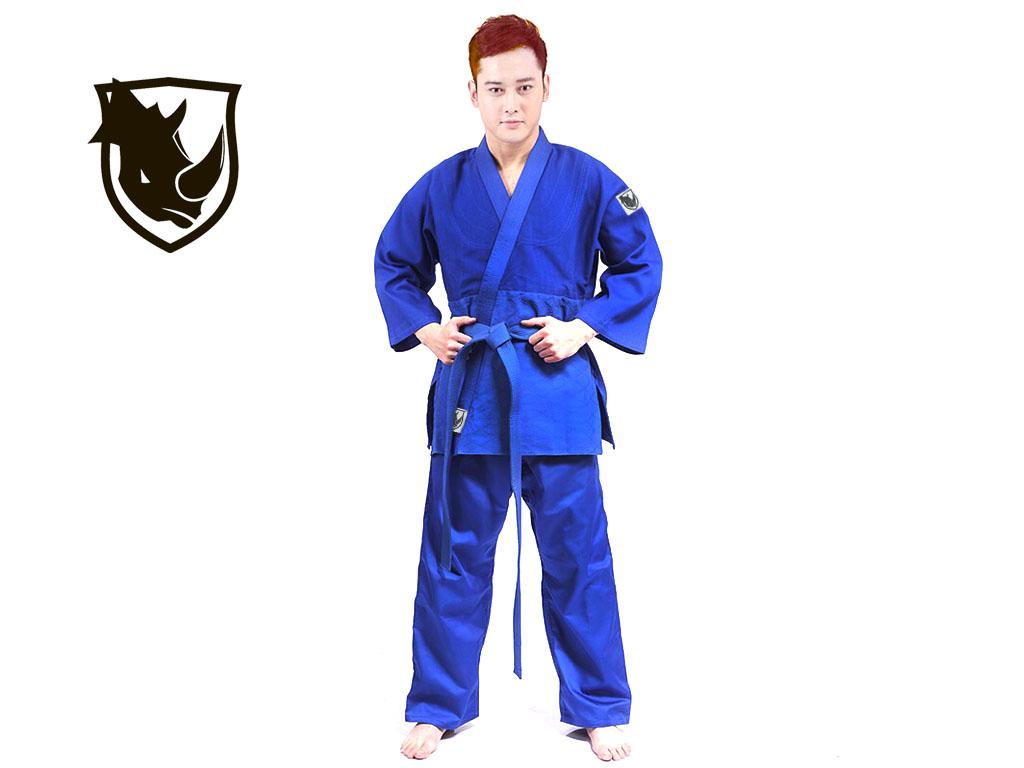Кимоно дзюдо RHINO. Цвет синий. Размер 28-30. Рост 110., артикул 06758