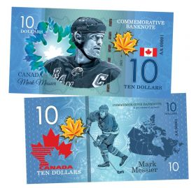 10 dollars Canada - Mark Messier (Марк Мессье). Легенды хоккея (Canadian Hockey Legends). UNC