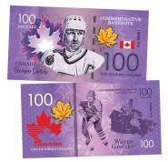 100 dollars Canada - Wayne Gretzky (Уэйн Гретцки). Легенды хоккея (Canadian Hockey Legends). UNC