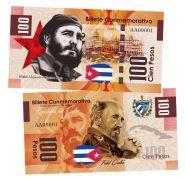 100 песо (Pesos) — Куба. Фидель Кастро(Fidel Castro). Памятная банкнота. UNC