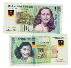 100 марок (Deutsche mark) — Германия. Анна Франк (Anne Frank). Памятная банкнота. UNC