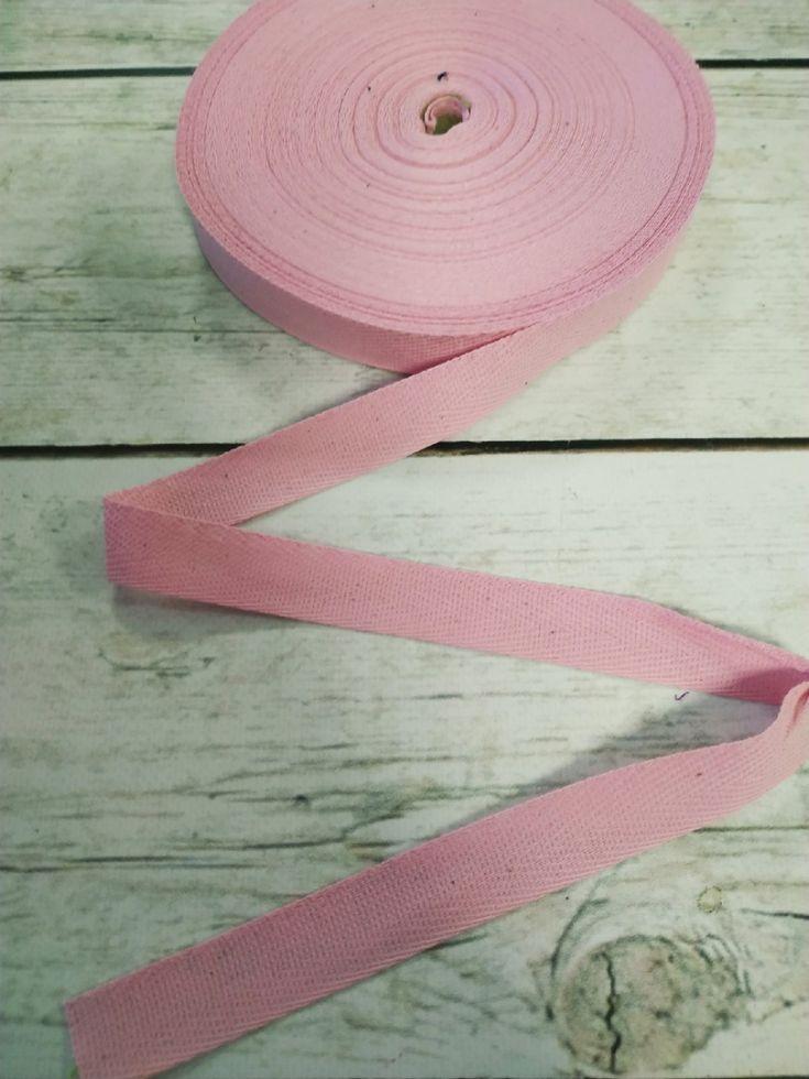 киперная лента 20 мм нежно-розовая