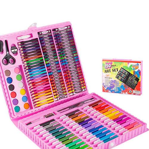 Набор для рисования в чемодане Art Set, 150 предметов, цвет - розовый.