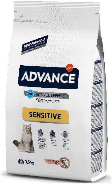 Сухой корм для кошек Sensitive при чувствительном пищеварении с лососем и рисом 1.5 кг