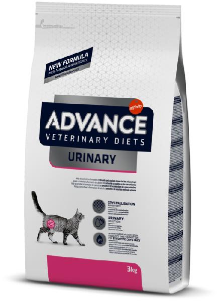 Сухой корм для кошек Advance Veterinary Diets Urinary для лечения МКБ 3 кг