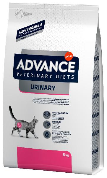 Сухой корм для кошек Advance Veterinary Diets Urinary для лечения МКБ 8 кг