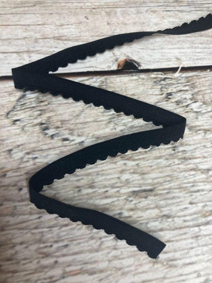 резинка отделочная бельевая черная   15мм