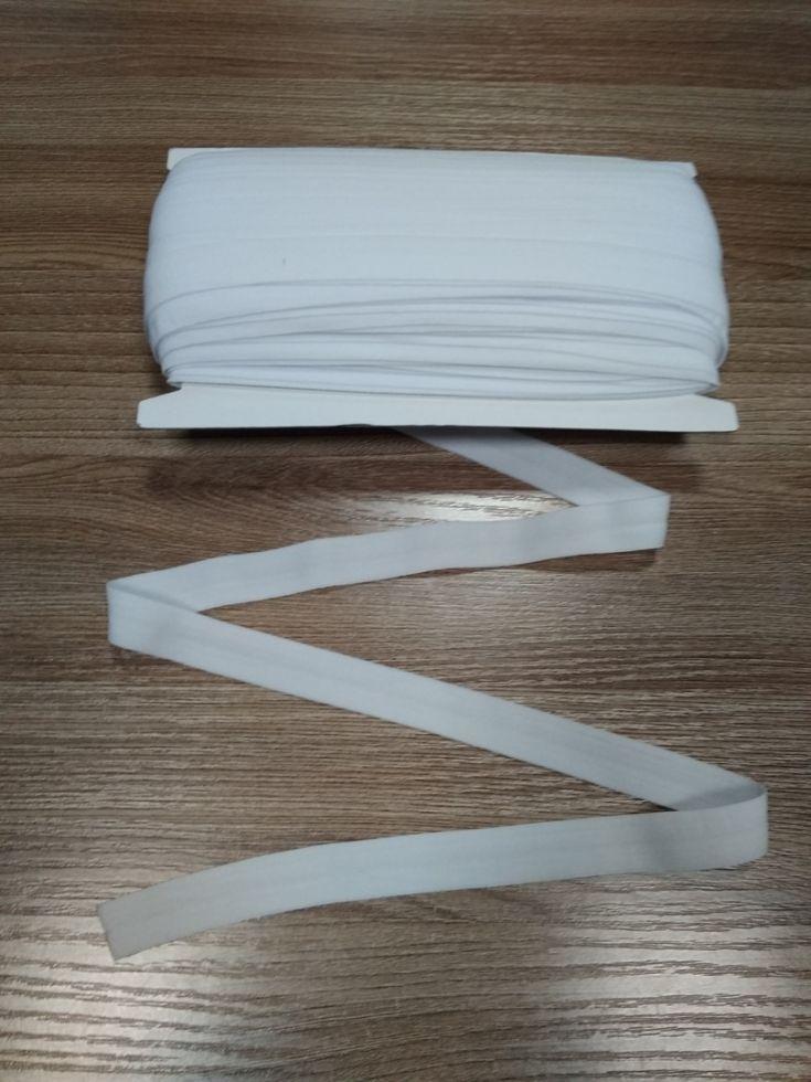 окантовочная резинка -бейка белая матовая