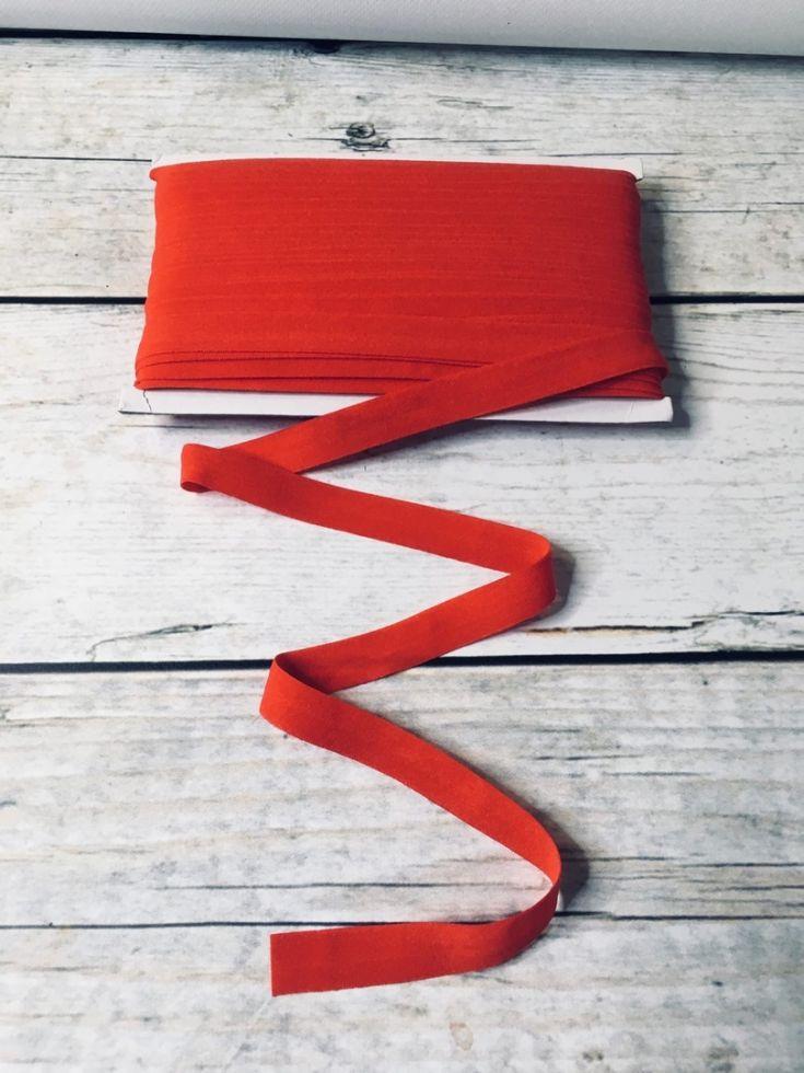 окантовочная резинка -бейка красная матовая