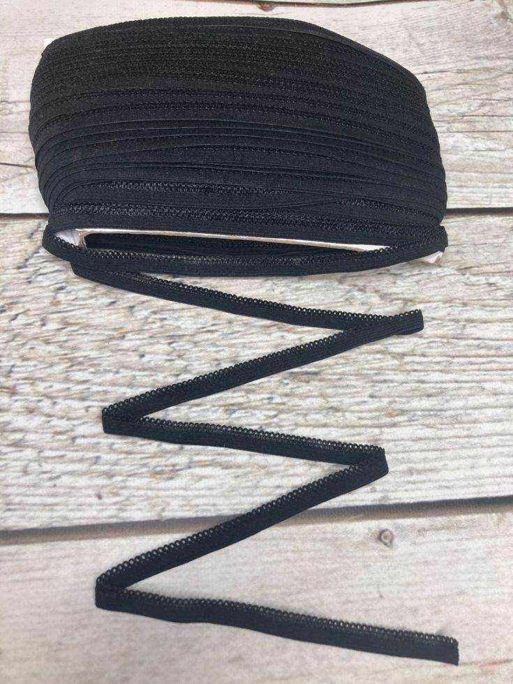 ажурная резинка 10 мм черная