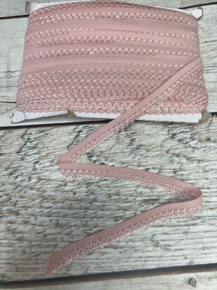 ажурная резинка 12мм розовая