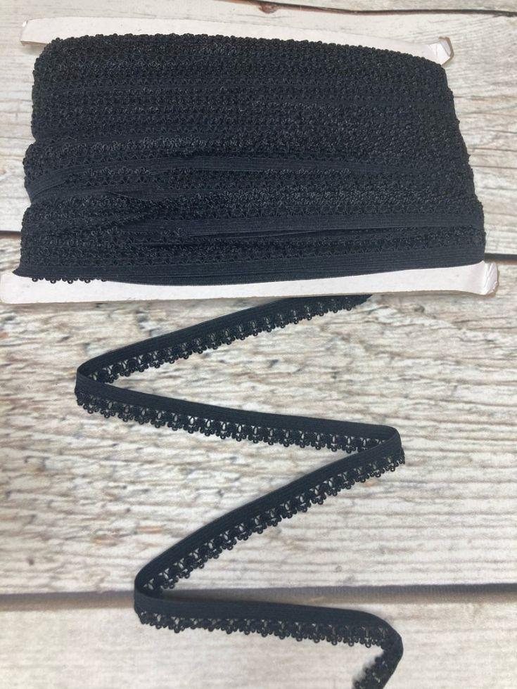 ажурная резинка 12 мм черная