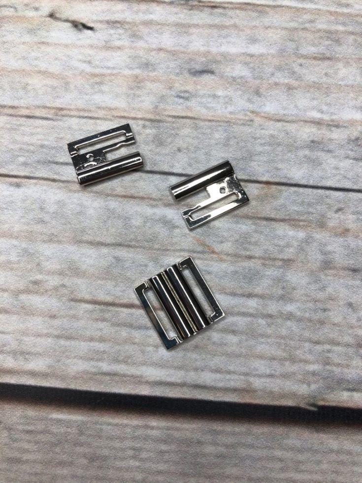 пряжка  металл под резинку никель 15мм