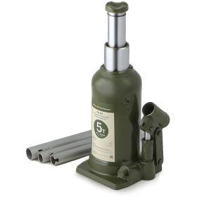 903350 Домкрат гидравлический бутылочный двухштоковый 5 тонн, 222-500мм Дело Техники