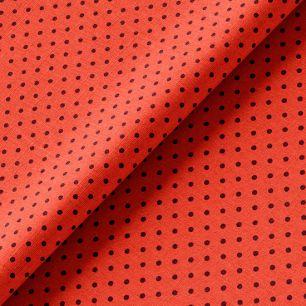Хлопок коричневая точка на красном 50х37