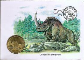 Cаблезубая белка и Шерстистый носорог Набор 2 х 5 долларов Остров Биоко (Гвинея) 2021