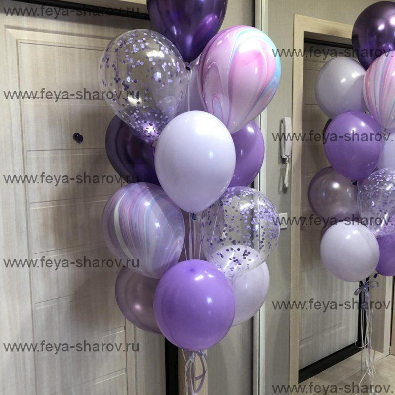 Фонтан шаров Фиолет