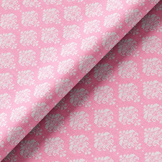 Хлопок ажур на розовом 50х37