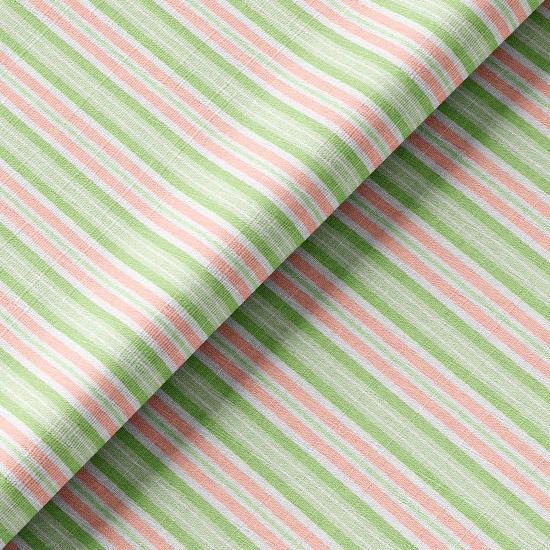 Хлопок розово-зеленая полоска 50х37
