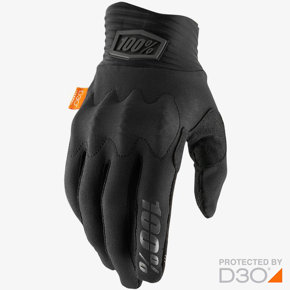 100% Cognito D3O Black/Charcoal перчатки для эндуро