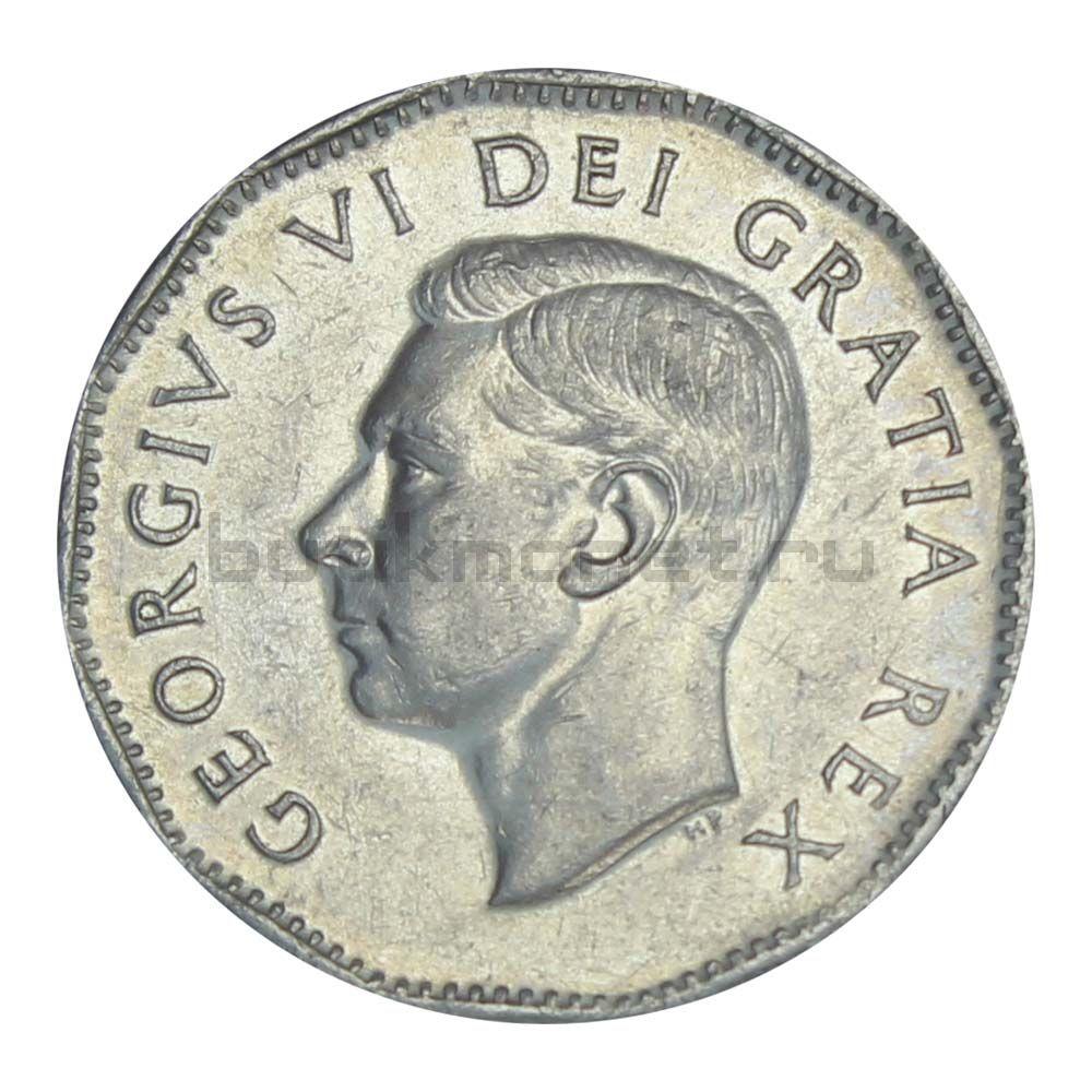 5 центов 1951 Канада 200 лет с момента открытия никеля
