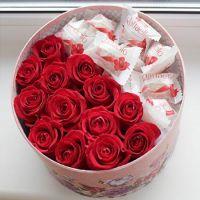 Розы + рафаэлло
