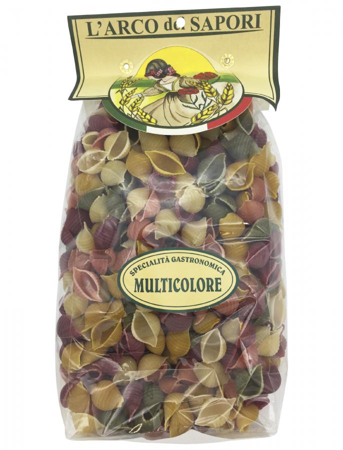 Паста ракушки 5 вкусов 500 г , Conchiglie ai 5 sapori Pastificio Curti 500 gr.